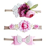Best Hair Bows - Bembika Baby Floral Headbands Hair Bows Elastic Bands Review