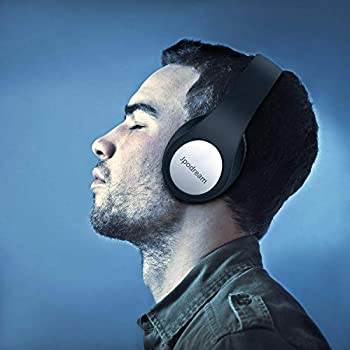 Bluetooth Cuffie Over-Ear, Auricolari Bluetooth Pieghevole con Microfono, Super HiFi, Bassi Profondi, 3,5 mm AUX, 25 Ore di Tempo di Gioco per Cellulari/TV/Mac/PC by Jpodream - Black