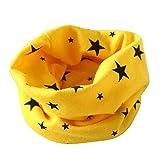 Oyedens Baby Kragen Schal Baumwolle Hals O Ring Schals (für 2 bis 10 Jahre alt.) (Gelb)