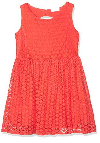 NAME IT Mädchen Kleid NKFDORIT SL DRESS, Orange (Emberglow), (Herstellergröße: 128)