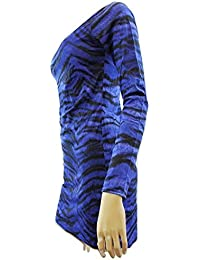 Jane Norman - Robe -  Femme Bleu Blue Animal Print