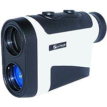 Golf telémetro - al alcance de la mano: 5-850 por una sola, Bluetooth Compatible con impresora láser telémetro altura de la plataforma, ángulo, medidor de distancia Horizontal ideal para caza, Golf, ingeniería de Salford (blanco)