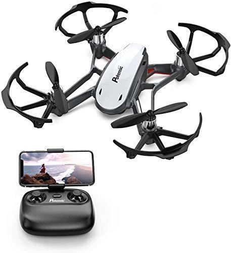 Potensic FPV Mini Drohne mit Live-Video-Kamera, RC Helikopter FPV Quadrocopter ferngesteuert mit app, Kopflos-Modus, Höhe-halten-Funktion, EIN-Tasten-Start und -Landen, Ideal für Anfänger und Kinder