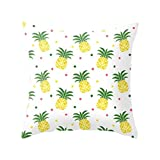 Pu Ran Pineapple Leaf Yellow Pillow Case Sofa Car Waist Throw Cushion Cover Home Decor - 22 Green Pineapple