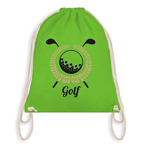 Shirtracer Golf - Lorbeerkanz Golfschläger Golfball - Unisize - Hellgrün - WM110 - Turnbeutel & Gym Bag
