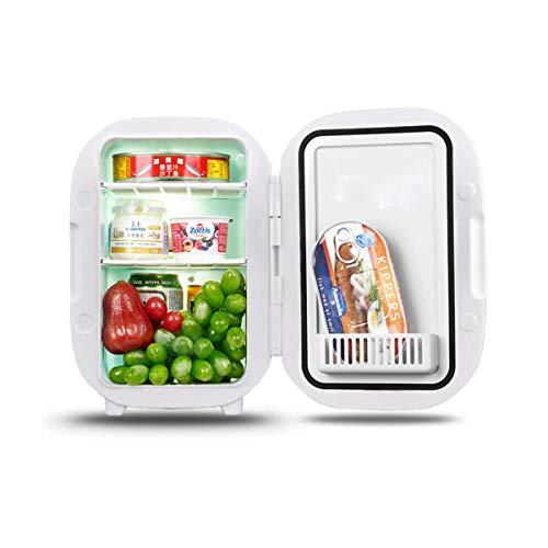 CNDY Tragbarer Kühlschrank, Minikühlschrank für Büro, Kühlschranktüren, Leichtgewicht, Kompakt, Leise, Kühlbox für Reisen im Freien, White-Car/Home