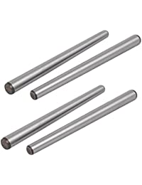Tradico® Carbon Steel GB117 120mm Length 8mm Small End Diameter Taper Pin 4pcs