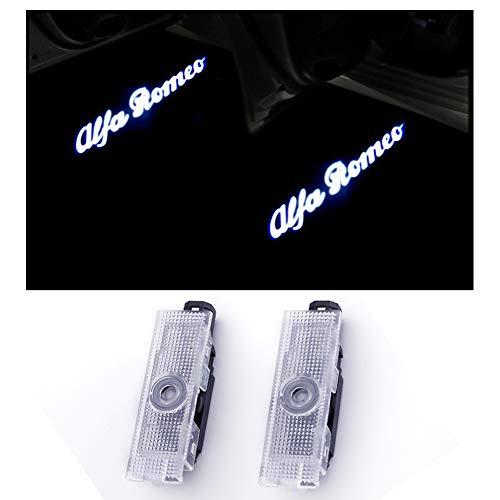 Porta per auto LED Lighting Proiettore Ghost Shadow Proiettile Cortesia Welcome Logo Light Lamp per Romeo Series (2 pezzi)