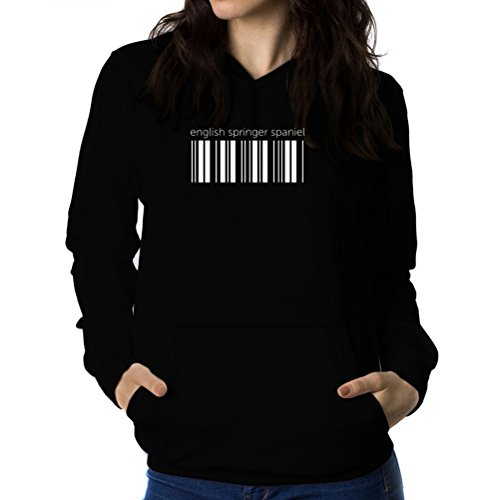 Felpe con cappuccio da donna English Springer Spaniel barcode