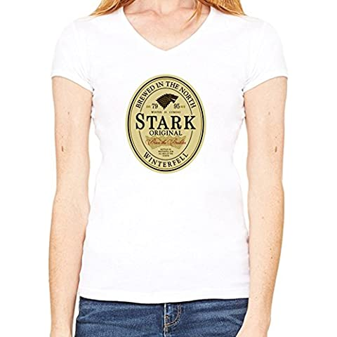 Stark Original Beer Label T-Shirt V collo