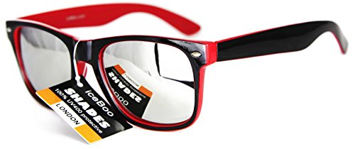 new-sunglasses-two-tone-reflective-lenses-vintage-retro-classic-mens-womens-uv400-black-red-frame-si