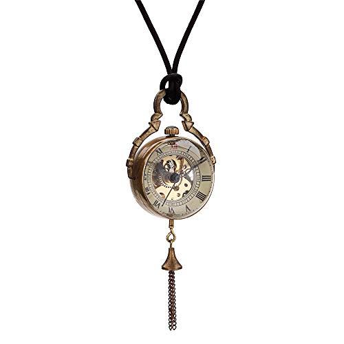 ChenYongPing Pocket Watch for Men Retro mechanische Taschenuhr kreative Klassische Neue Paar mechanische Uhr Ball Lanyard Hollow for Birthday Gift Wedding or (Farbe : Gold, Größe : 4.7x1.5cm) (Ball-uhren Männer Für)