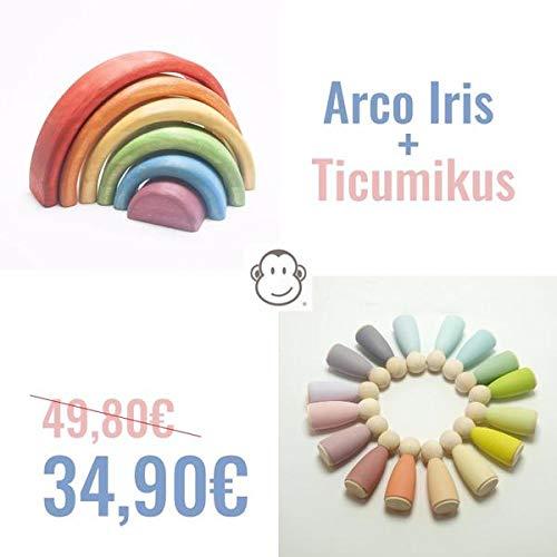 TICUMIKU Combo Colores - Arco Iris Waldorf 12 Ticumikus