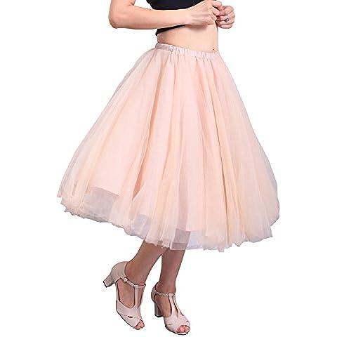 Relaxfeel 3 colores Midi tul tutú de ballet de la colmena nupcial de la enagua de la falda de la