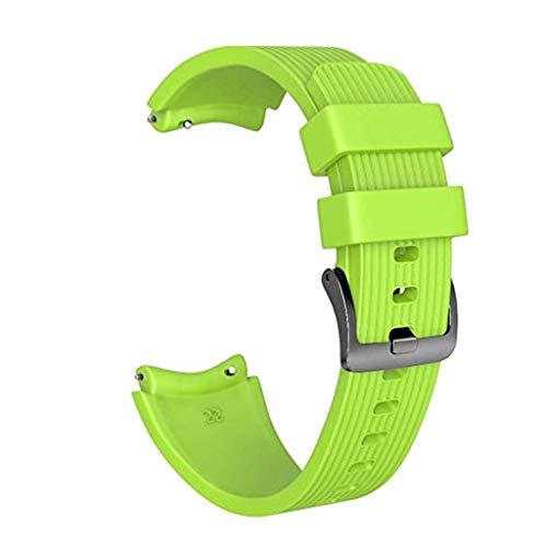 Uhrenarmbänder Silikon Armband + 3 stück Glas Film für Huawei gt smart Watch Länge: 230 mm, Breite: 22 mm (Grün) ()