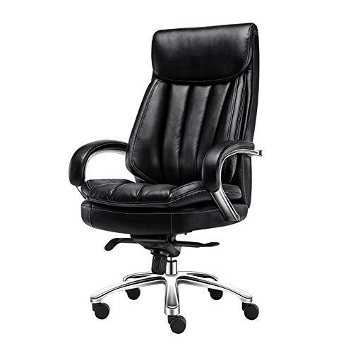 Stühle CJC Executive PU Leder Recliner Drehstühle Mit Hohen Rückenlehne Großer Sitz Und Tilt-Funktion Computer Bürostühle (Farbe : Black Leather) - Pvc-dusche-badewanne-stuhl