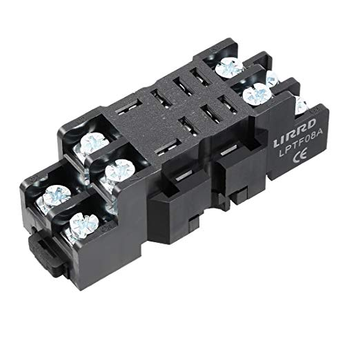 ZCHXD 10A 8P DIN Rail Mount Power Relay Socket Base Holder,1pcs -