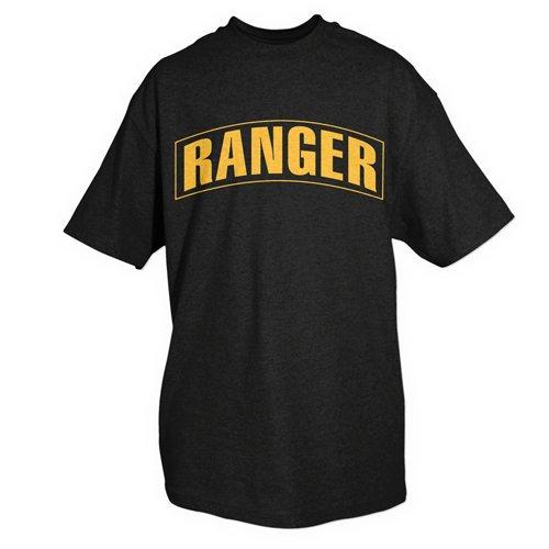 Ranger unilaterale Outdoor uomo impresso T-Shirt 3X Grande Nero / Oro