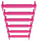 Neon Lacets silicone sans noeud, Pack enfant 6+6, élastiques, aspect lacets tréssés, facile, rapide, waterproof, facile à laver.