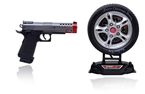 Free Pencil Box (MRP Rs.690) with KARTsHiTech Turntable Shoot Game with Infrared Gun, Black