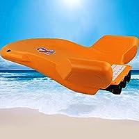 ZQYR# Kickboard Tablas De Natación Tabla De Surf Eléctrica Flotador Kickboard Deportes Acuáticos, Entrenamiento para Niños, Tres hélices, Naranja, 70x64x23cm