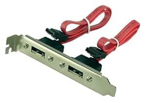 LogiLink CS0006 S-ATA zu eSATA Adapter mit Slotblech 2-fach