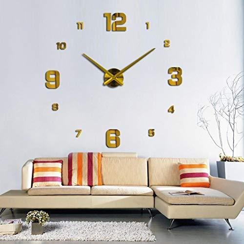 CHIGANT Horloge Murale Mute DIY Grand Moderne Sticker 3D Home Office Decor Cadeau