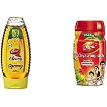 Dabur Honey 400g Squeezy Pack (Buy 1 Get 1 Free) and Dabur Chyawanprash 1kg (Get Dabur Honey 50g Free) Combo Pack