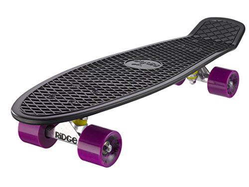 Ridge Skateboard Big Brother Nickel 69 cm Mini Cruiser, schwarz /lila (Penny Board Zoll-schwarz 27)