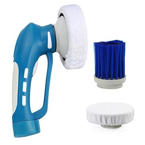 Fine Dragon Wasserdicht Auto Poliermaschine IPX7 Kabellos Putzmaschine Schleifmaschine Wachsmaschine Reinigungsbürste Schleifmaschine inkl.3 Bürstenköpfen