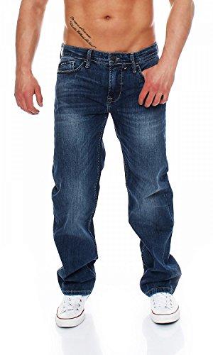 Comfort Fit Herren Jeans (Big Seven Morris Sapphire Blue Comfort Fit Herren Jeans, Hosengröße:W34/L36)