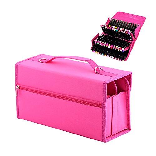 80-slots-marker-pen-storage-bag-case-multi-layer-art-pen-carrying-case-holder-with-shoulder-strap-fo