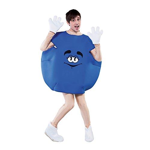 Für Kostüm Erwachsene Peanuts - Unbekannt Aptafêtes-cs925815-Kostüm Bonbon-Blau Unisex-Größe M-Einheitsgröße -