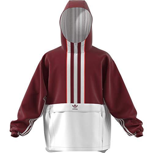 adidas Originals Herren Übergangsjacken Auth Anorak Transition rot L Front Zip Windbreaker Jacke