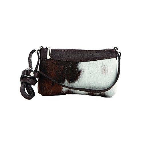 Almbock Trachten-Tasche Burga aus echt Kuhfell - extravagante und individuelle Hand-Tasche, exclusive Linie, aus Kuh-Fell, für Frauen, Wie...