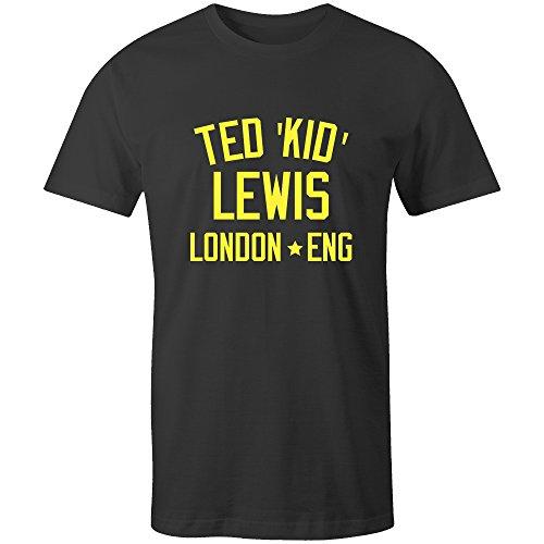 Ted 'Kid' Lewis Boxing Legend Kids T-Shirt Black/Yellow