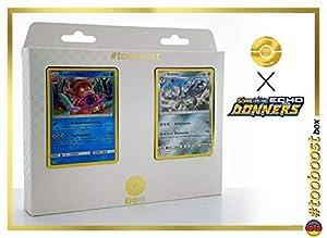 Stahlos (Steelix) 125/214 Y Laschoking (Slowking) 55/214 - #tooboost X Sonne & Mond 8 Echo Des Donners - Box de 10 Cartas Pokémon Alemán + 1 Goodie Pokémon
