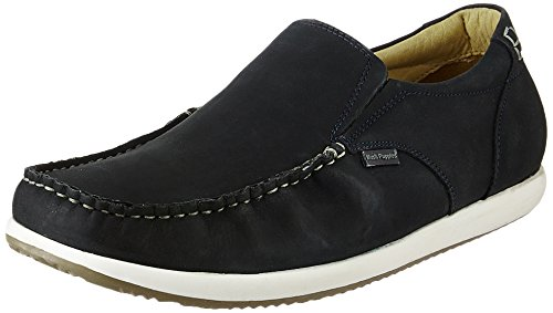 Hush Puppies Men's Brad Slip On Blue Leather Loafers and Mocassins – 10 UK/India (44 EU)(8549828) 41b7N5axeLL