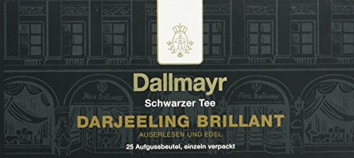 Dallmayr Tee Aufgussbeutel – Darjeeling Brilliant, 25 Beutel, 1er Pack (1 x 50 g)