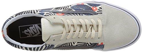 Vans Herren Ua Old Skool Sneakers Elfenbein (Tropic Havana Classic White/french Blue)