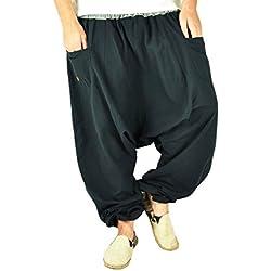 virblatt Pantalones cagados XXL de Color único con Entrepierna Profunda Talla única para Hombres y Mujeres L-XXL Moda Hippie con Cremallera en los Bolsillos - Unüberlegt Extra groß