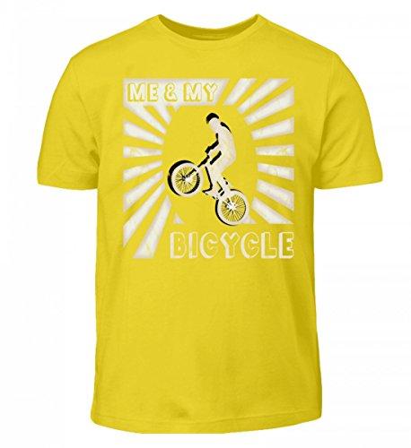 Hochwertiges Kinder T-Shirt - Me & My Bike - Ich und Mein Cross-Rad - in Coolem 90er Jahre Oldschool Retro Style - Für Alle BMX Fahrer