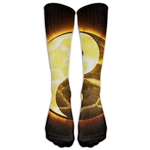hi Athletic Tube Stockings Women Men Classics Knee High Socks Sport Long Sock One Size ()