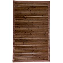 Estores Collection Alfombra Bamboo Marrón Oscuro 140 x 200 cm
