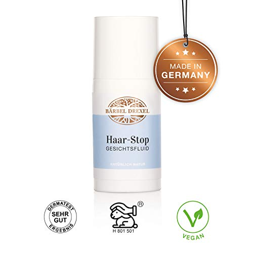 BÄRBEL DREXEL Haar-Stop Gesichtsfluid (30ml) 100% Vegane Herstellung Deutschland Haarentfernungscreme Painless