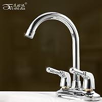 XXTT-Miscelatore lavabo Doppia leva doppio foro bacino rubinetto bacino caldi
