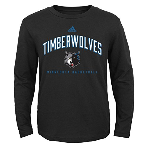 4256b2f72 Outerstuff NBA Youth Boys 8-20 Minnesota Timberwolves Arched Standard  Alternate Color Long Sleeve Tee