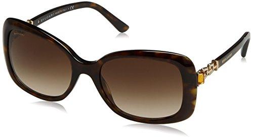 Bulgari Unisex-Erwachsene 8144 Sonnenbrille, Schwarz (Dark Havana), 57