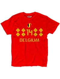 KiarenzaFD Camiseta Camiseta Fútbol Selección Mertens Bélgica 14 Streetwear Hombre, ...
