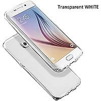 DOPPIA COVER CUSTODIA CASE NP 360° TPU GOMMA MORBIDA TRASPARENTE Front + Back FRONTE + RETRO PER IPHONE 5/5s ;5c ; 6/6s & iphone 7 (Samsung S6 Edge+, transparent)